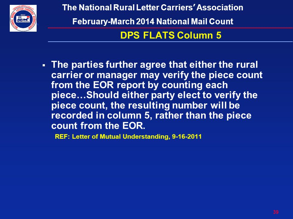 1 The National Rural Letter Carriers' Association February