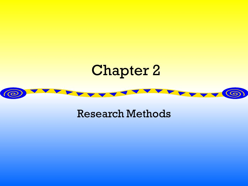 Chapter 2 Research Methods