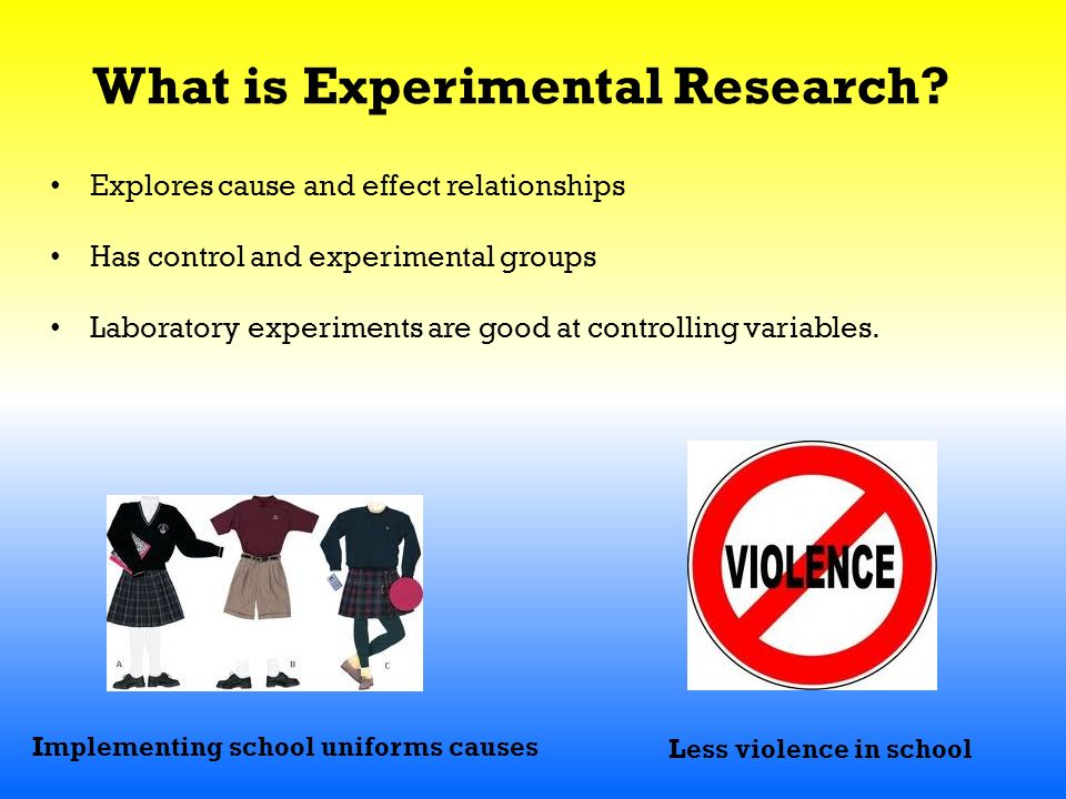 What is Experimental Research.