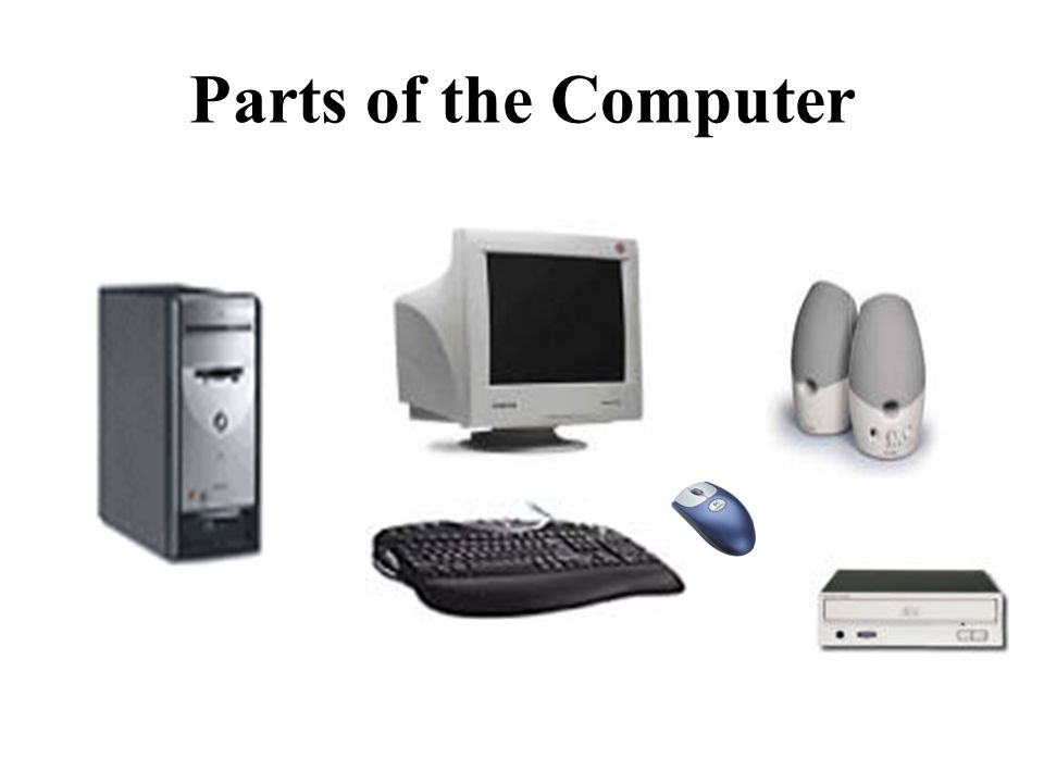 What are the main parts that make up a PC?