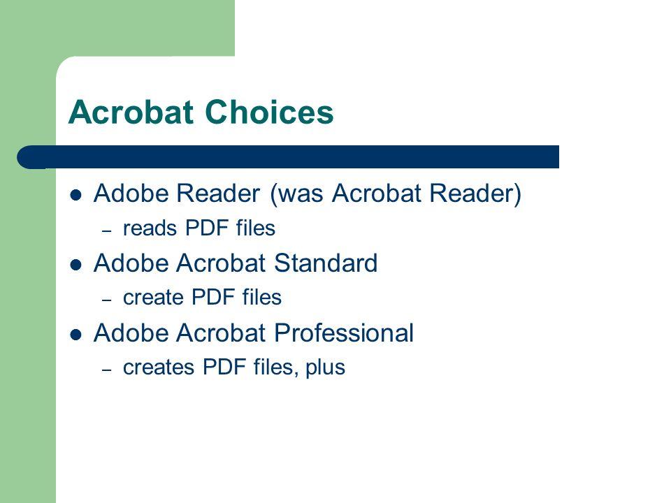 Documents on the Web – Adobe Acrobat Hope Greenberg 14 February ppt