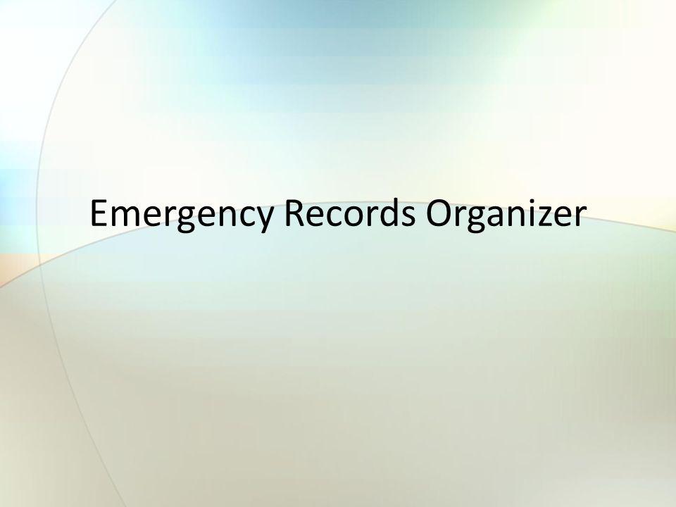 1 Emergency Records Organizer