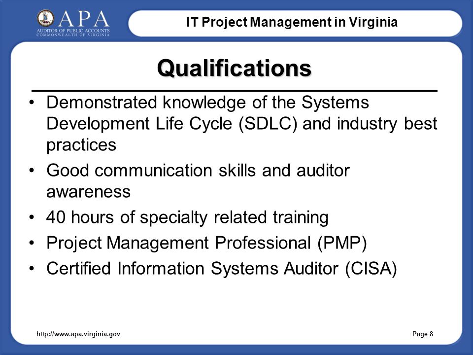 IT Project Management in Virginia IT Project Management Audits in ...