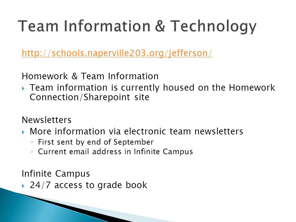 jjhs homework connection