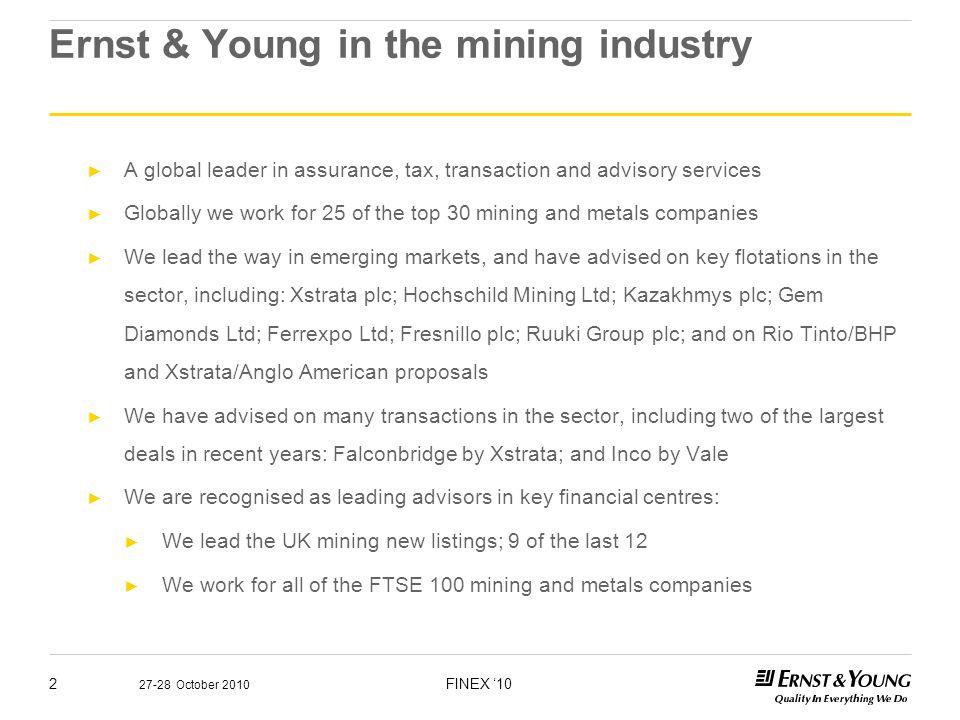 Dr Tim Williams Director Global Mining & Metals, Transaction