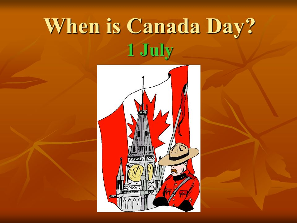 When is Canada Day 1 July