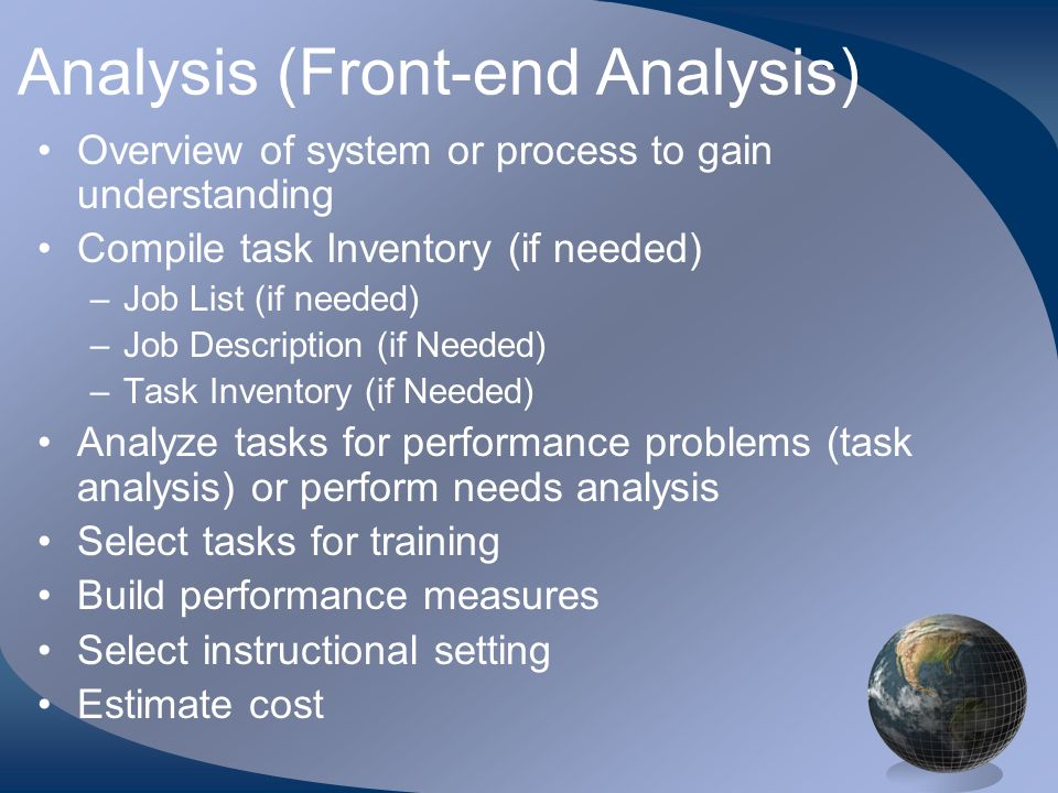 Instructional Design Model Addie Analysis And Design C Candace
