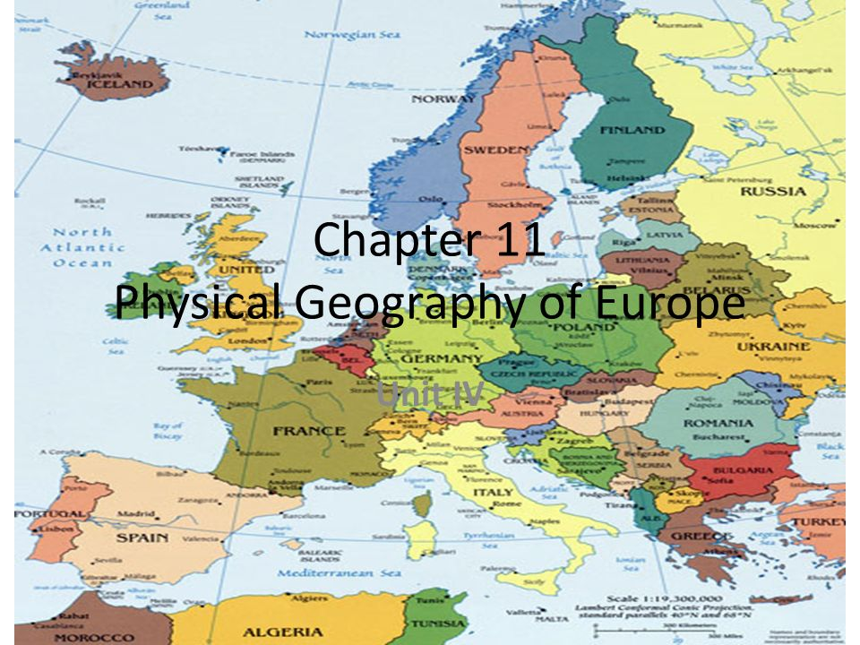 Physical Geography Of Europe Map.Chapter 11 Physical Geography Of Europe Unit Iv Satellite View Of