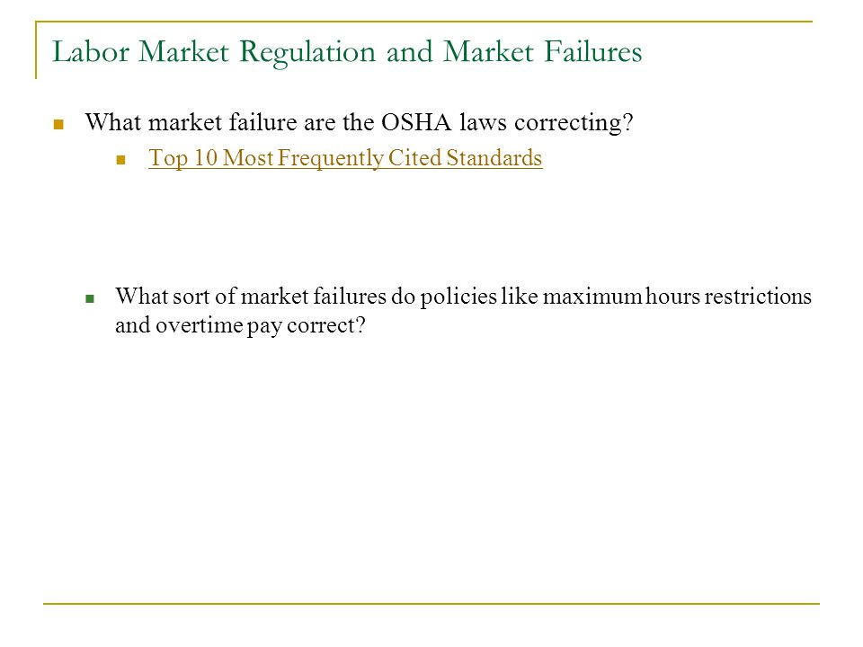 policies to correct market failure