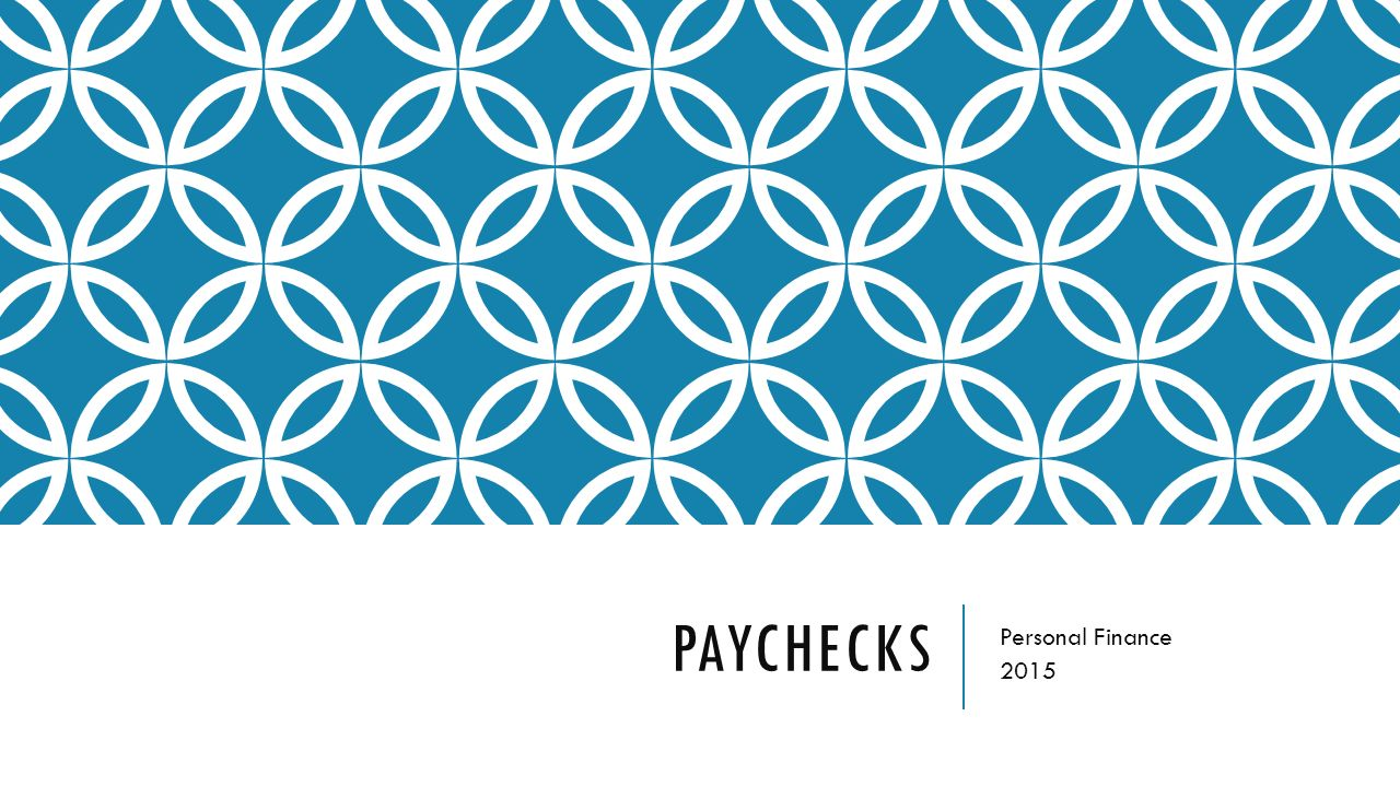PAYCHECKS Personal Finance 2015