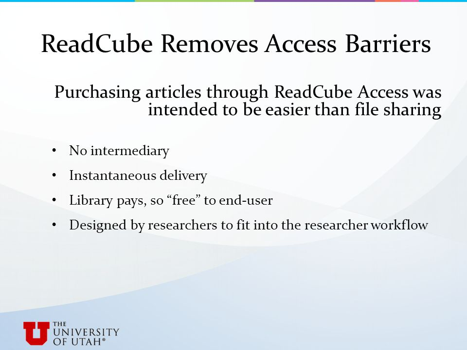Articles on Demand: Library Perspectives ReadCube Access at