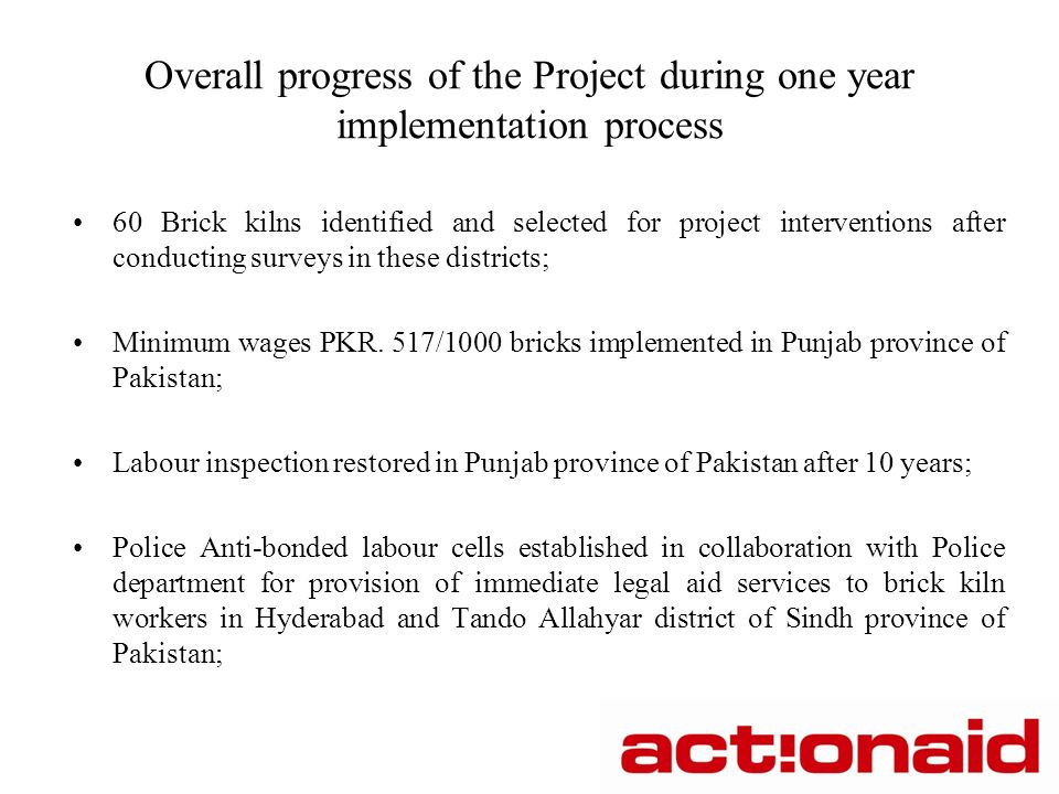 Support social protection and decent work of brick kiln
