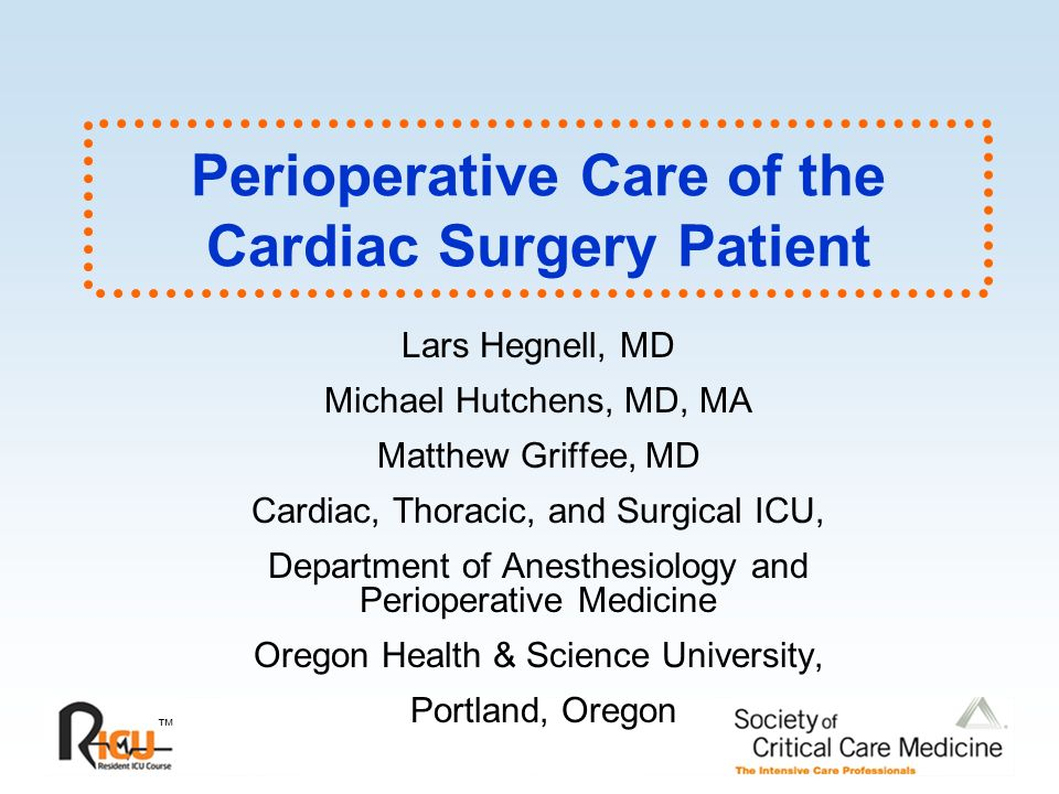 Ppt immediate post-operative care—cardiac surgery powerpoint.