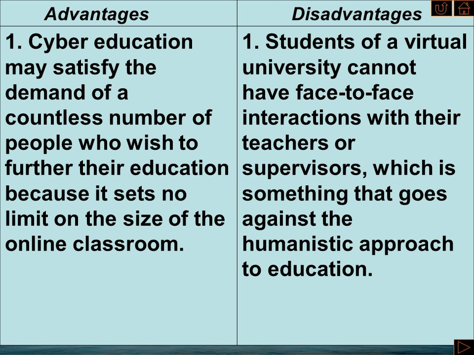 advantages and disadvantages of cyberspace