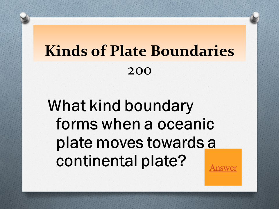 7 Kinds Of Plate Boundaries 100 A What Are O Converging Diverging Transform Sliding Game Board