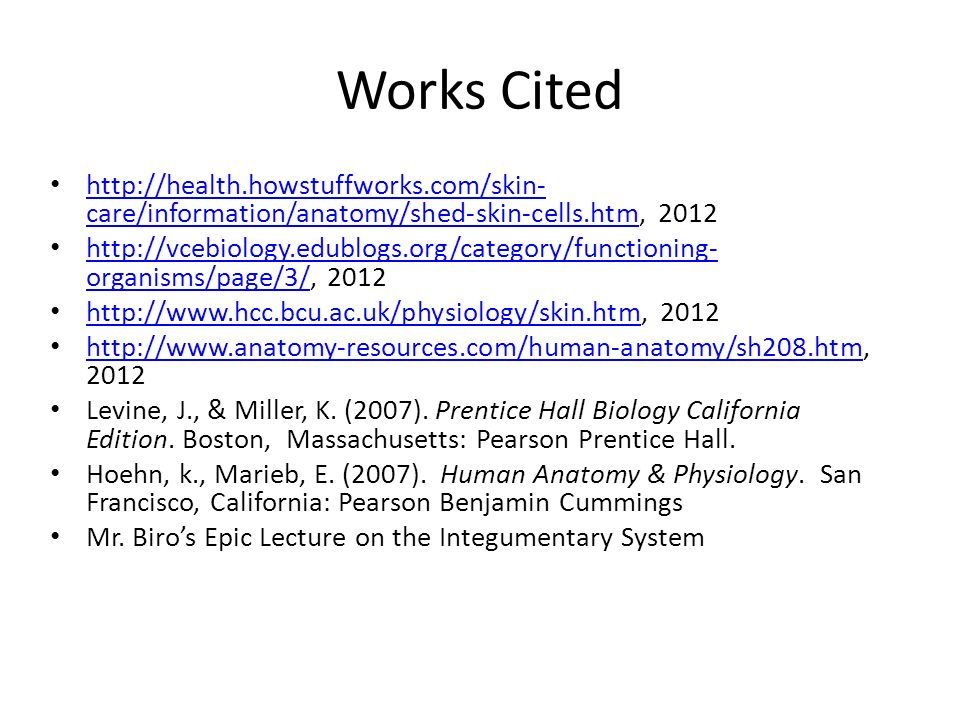 The Integumentary System Mr. Biro Period ______. - ppt download