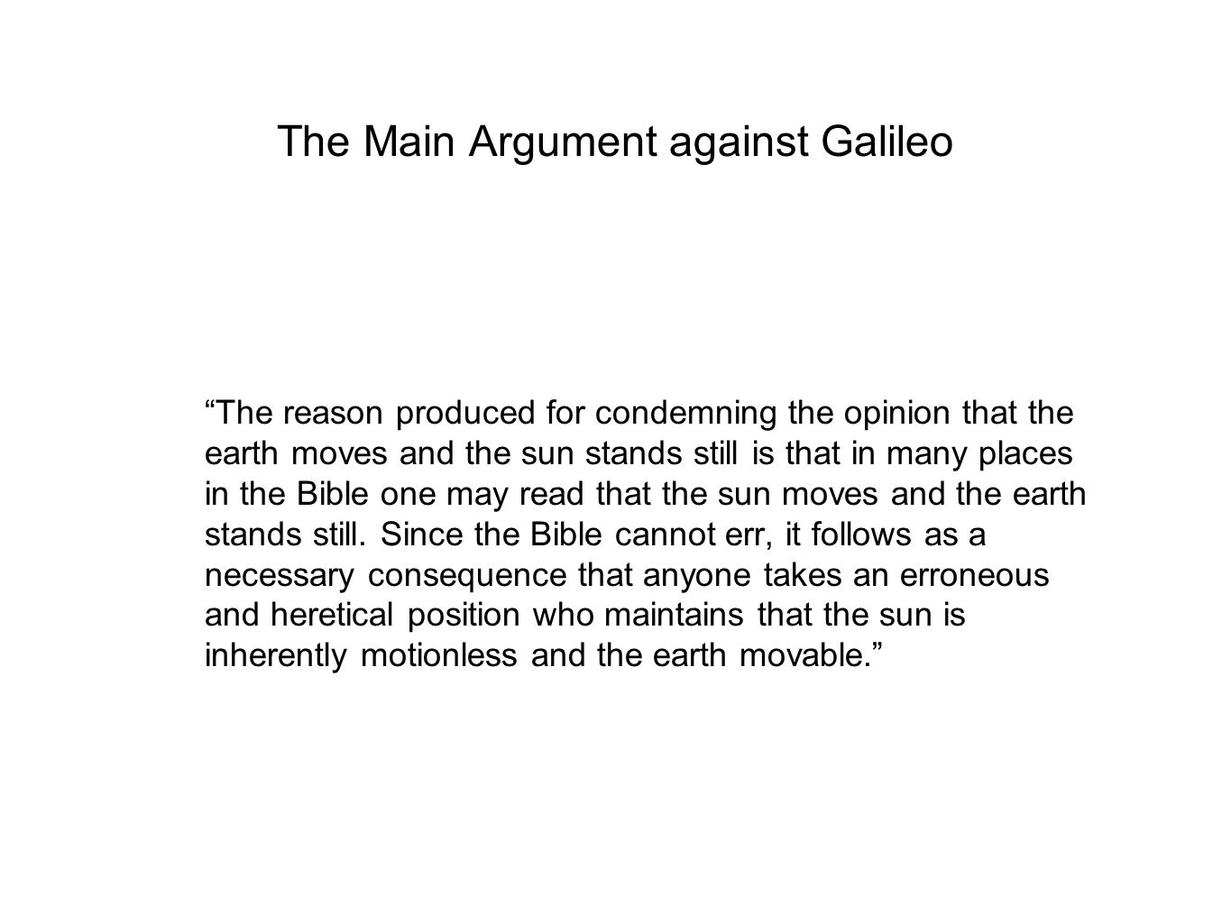 charge against galileo