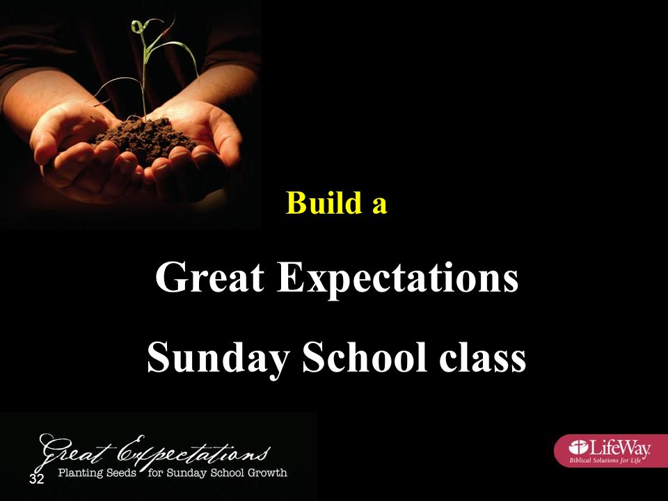 Build a Great Expectations Sunday School class 32