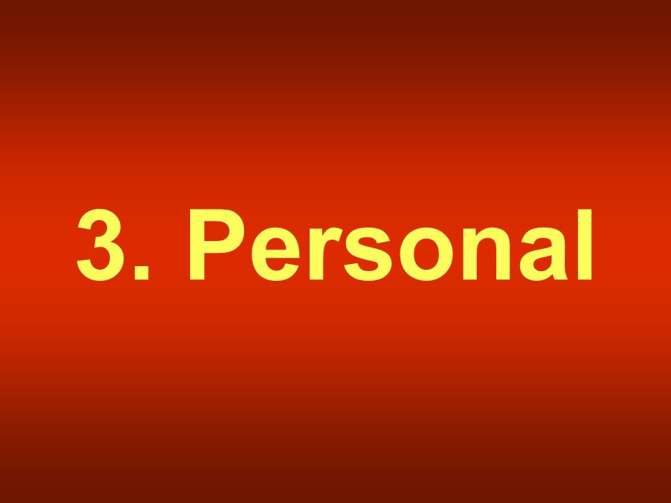 3. Personal