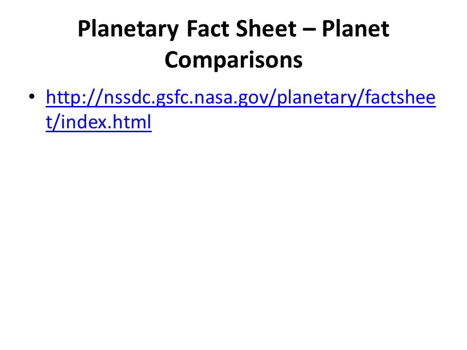nasa planetary fact sheet - 960×720