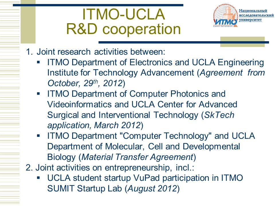 Eureca Program Itmo Ucla Strategic Partnership Results Of The Phase