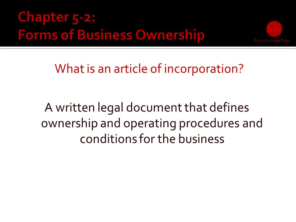 What are the legal requirements.