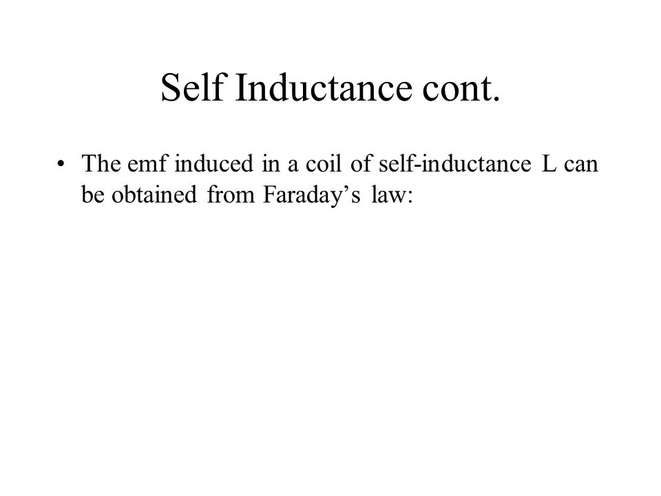 Self Inductance cont.