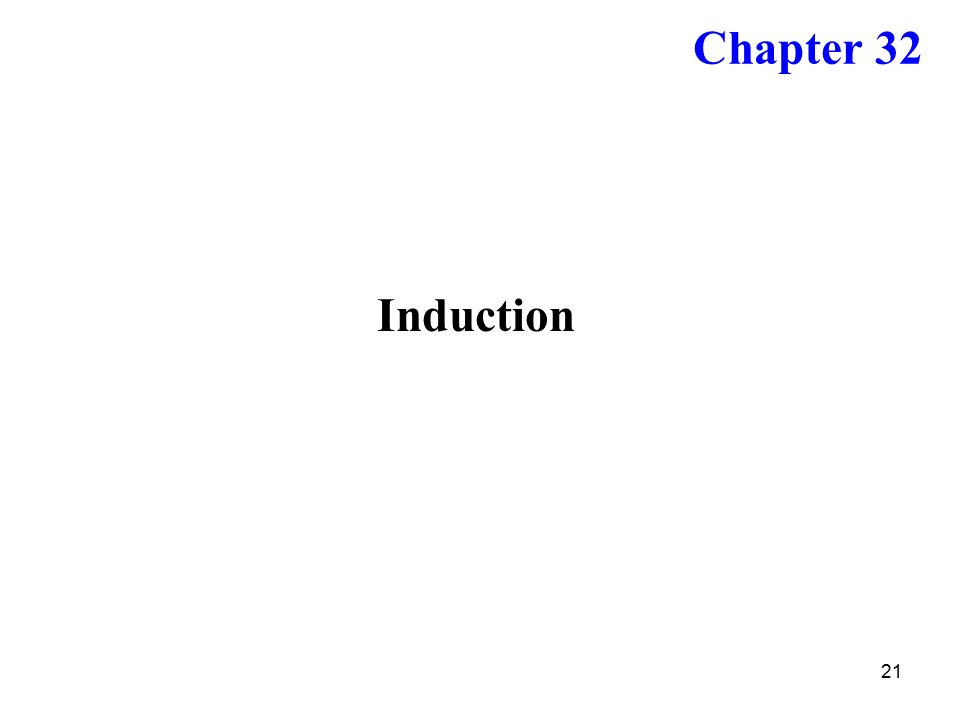 21 Induction Chapter 32