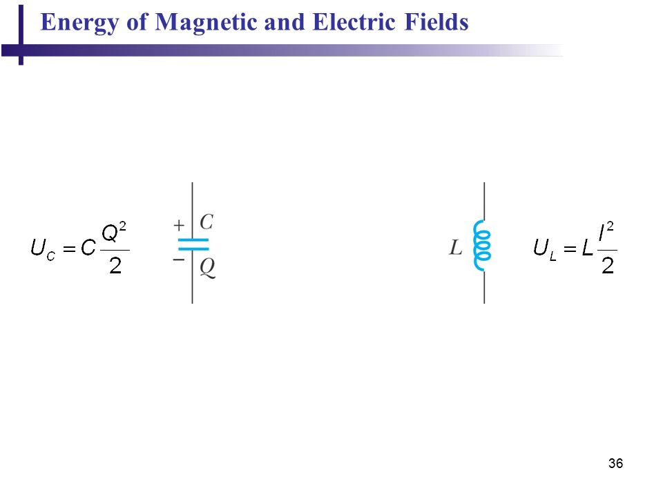 36 Energy of Magnetic and Electric Fields