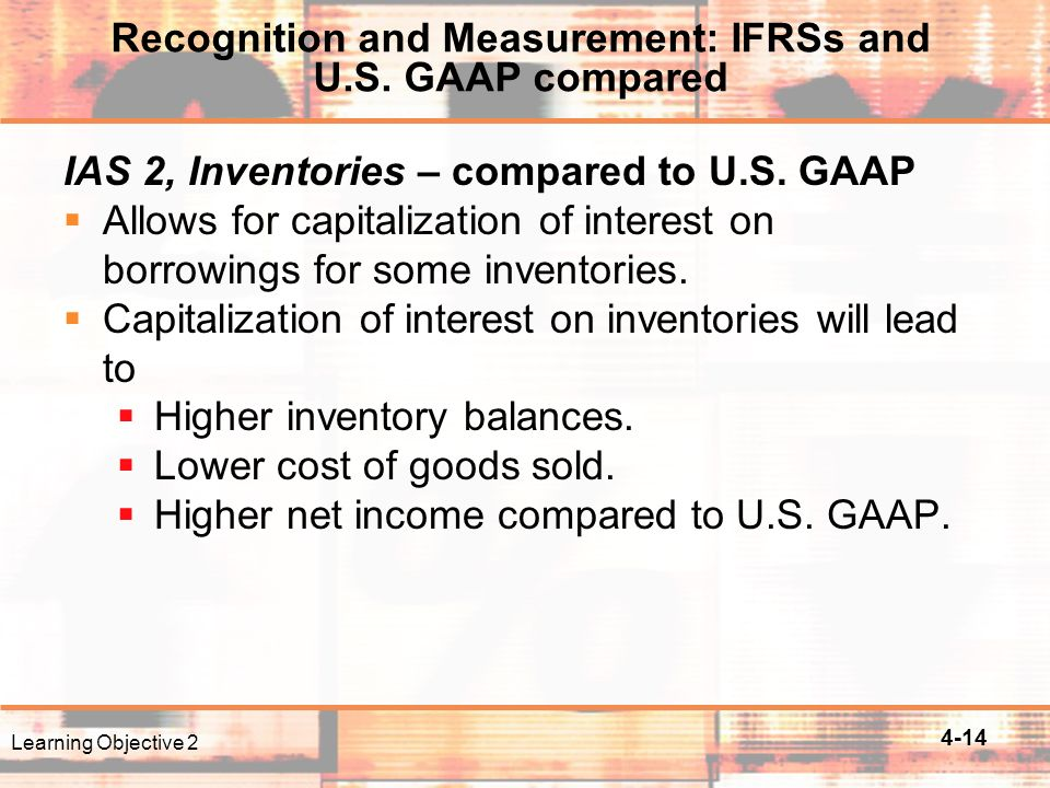 4-14 IAS 2, Inventories – compared to U.S.