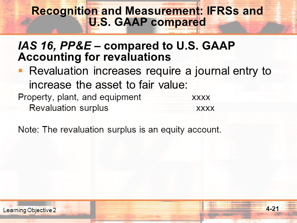 4-21 IAS 16, PP&E – compared to U.S.