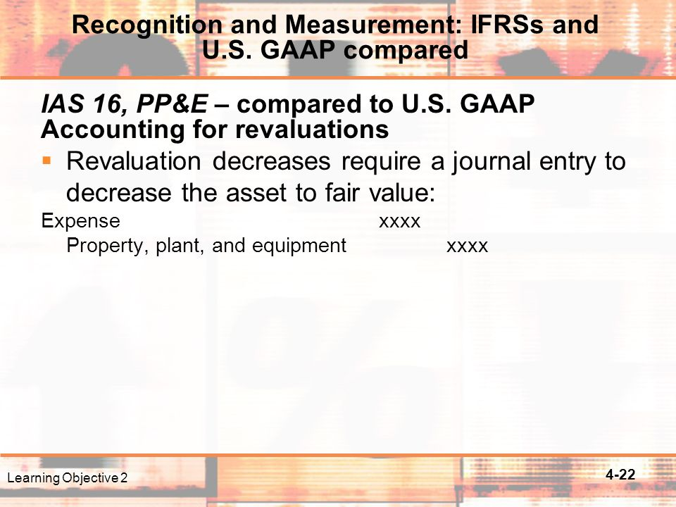 4-22 IAS 16, PP&E – compared to U.S.