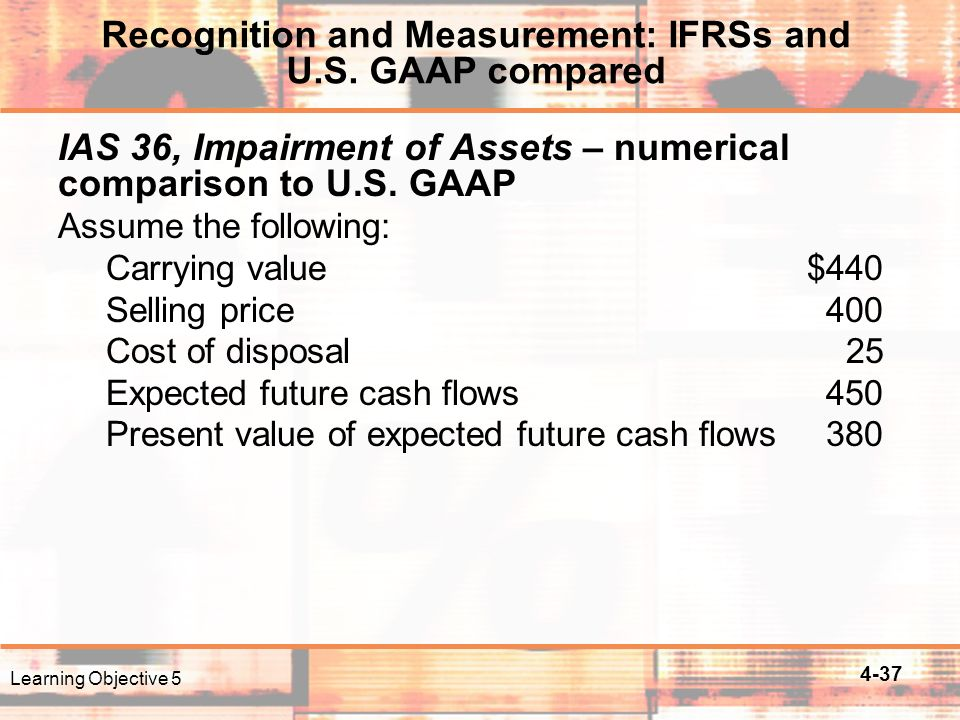 4-37 IAS 36, Impairment of Assets – numerical comparison to U.S.