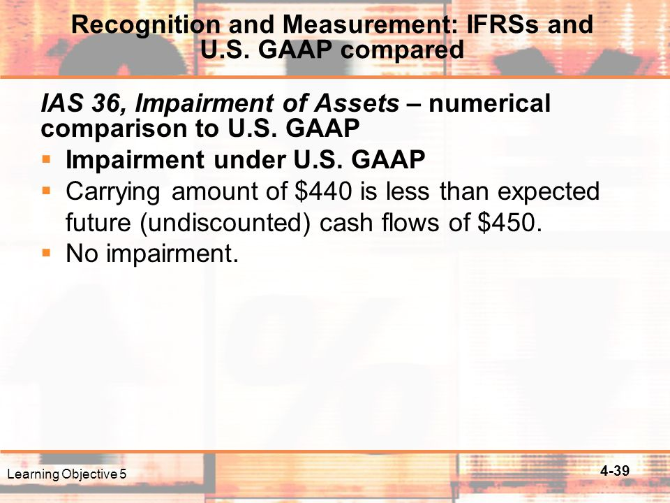 4-39 IAS 36, Impairment of Assets – numerical comparison to U.S.
