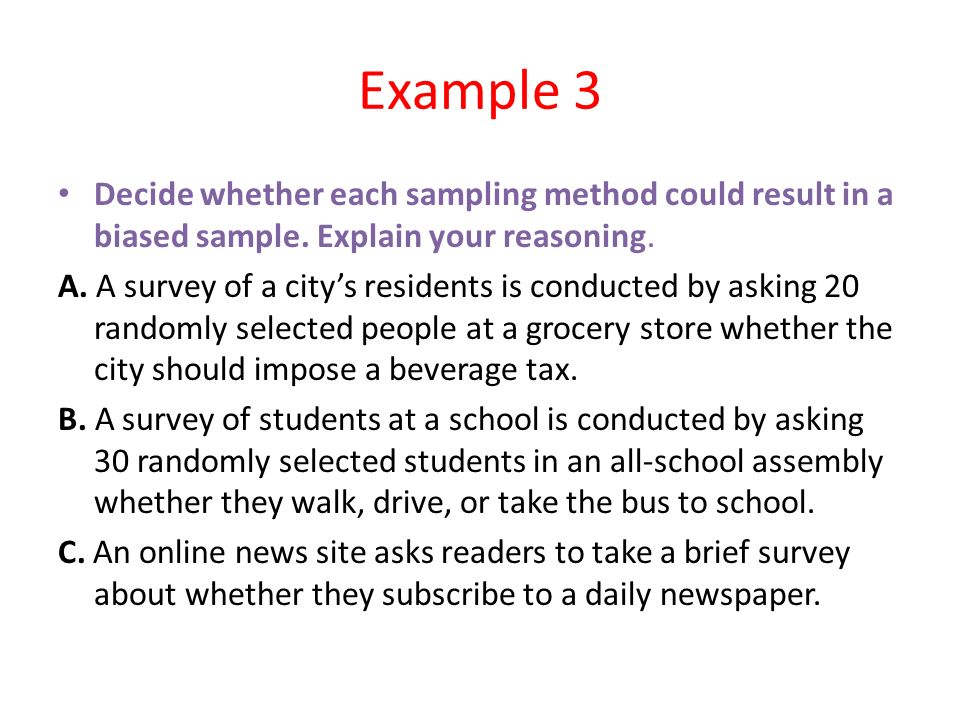 biased sampling method