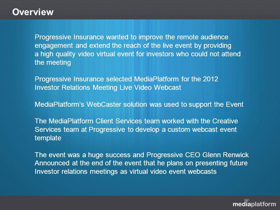 progressive 2012 investor relations webcast case study. - ppt download, Investor Relations Presentation Template, Presentation templates