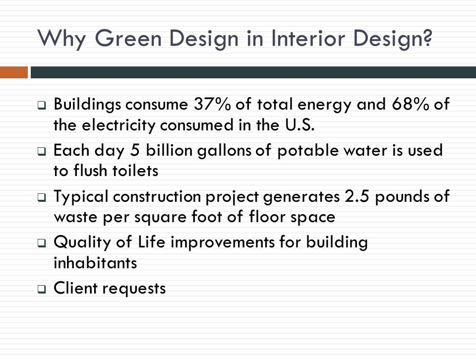 Why Green Design in Interior Design.