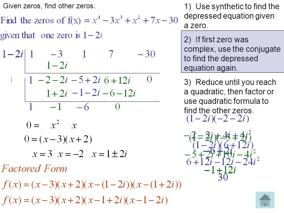 Given Zero Find Other Zeros Parabola Writing Equations Given Zeros