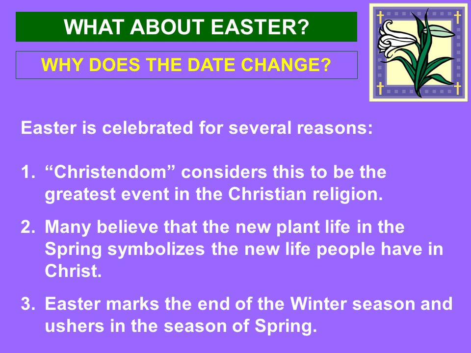 What About Easter Acts 121 5 What About Easter Each Year At This