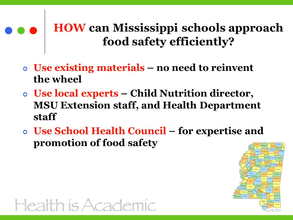 HOW can Mississippi schools approach food safety efficiently.