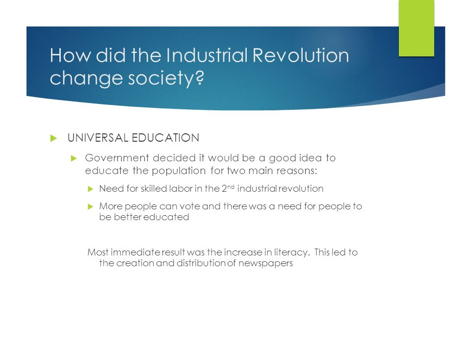how the american revolution changed society The american revolution fundamentally changed the american society politically, socially and j) this show how women in the society felt useless and unimportant because they had no roles also women wanted the same rights as men,some for an equal distribution of property(doc.