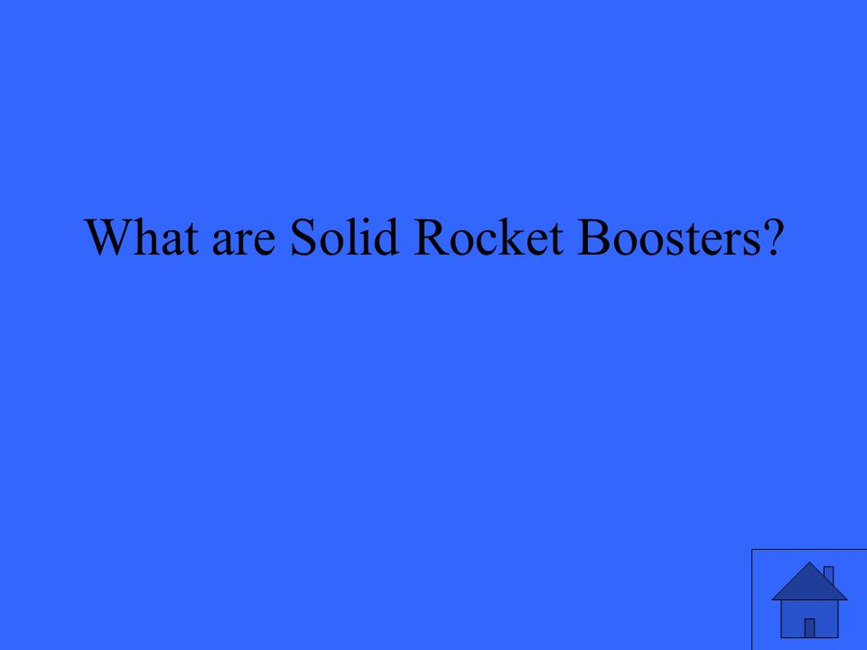 What are Solid Rocket Boosters