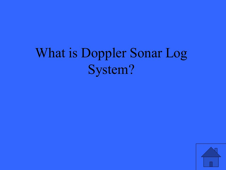 What is Doppler Sonar Log System