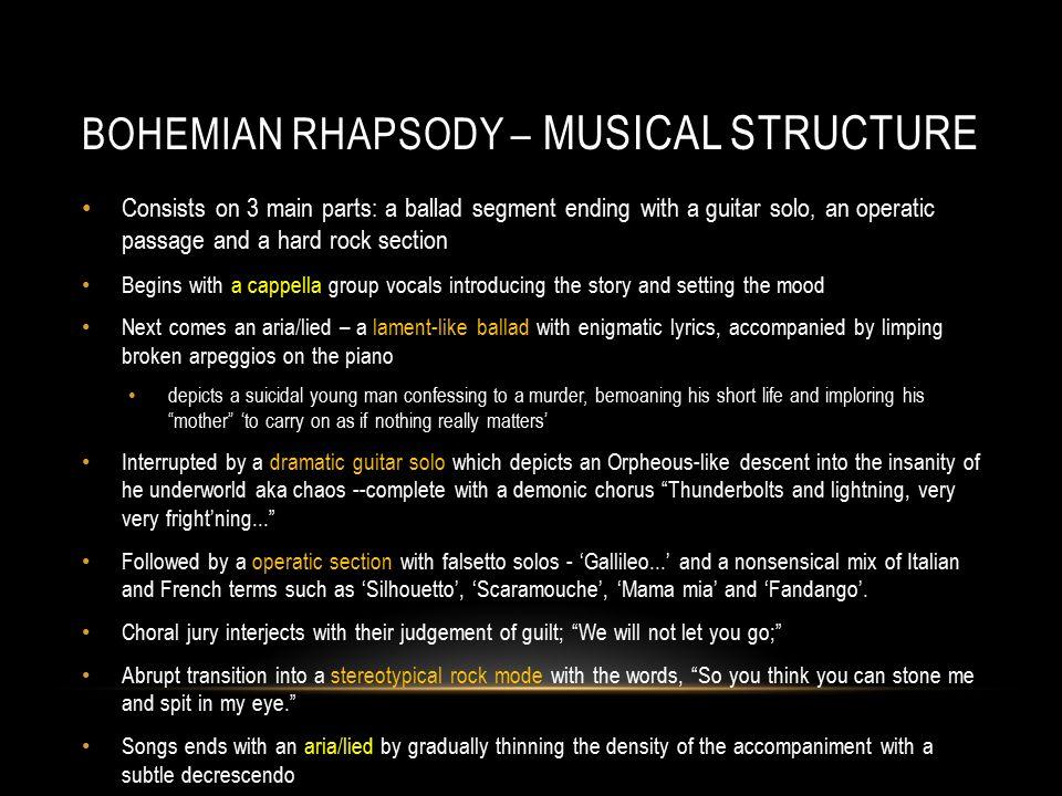 bohemian rhapsody structure