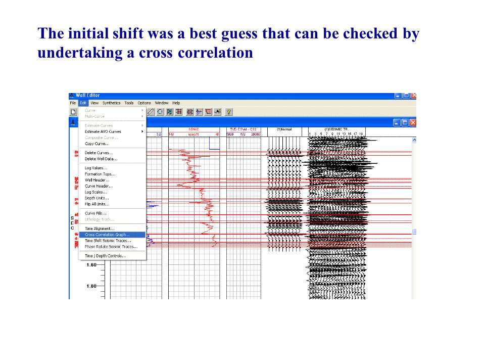 The initial shift was a best guess that can be checked by undertaking a cross correlation