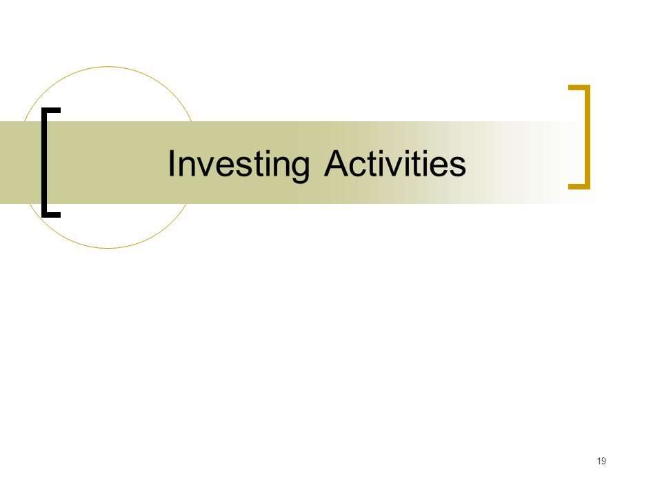 19 Investing Activities
