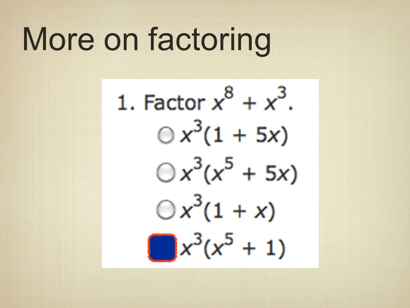 More on factoring