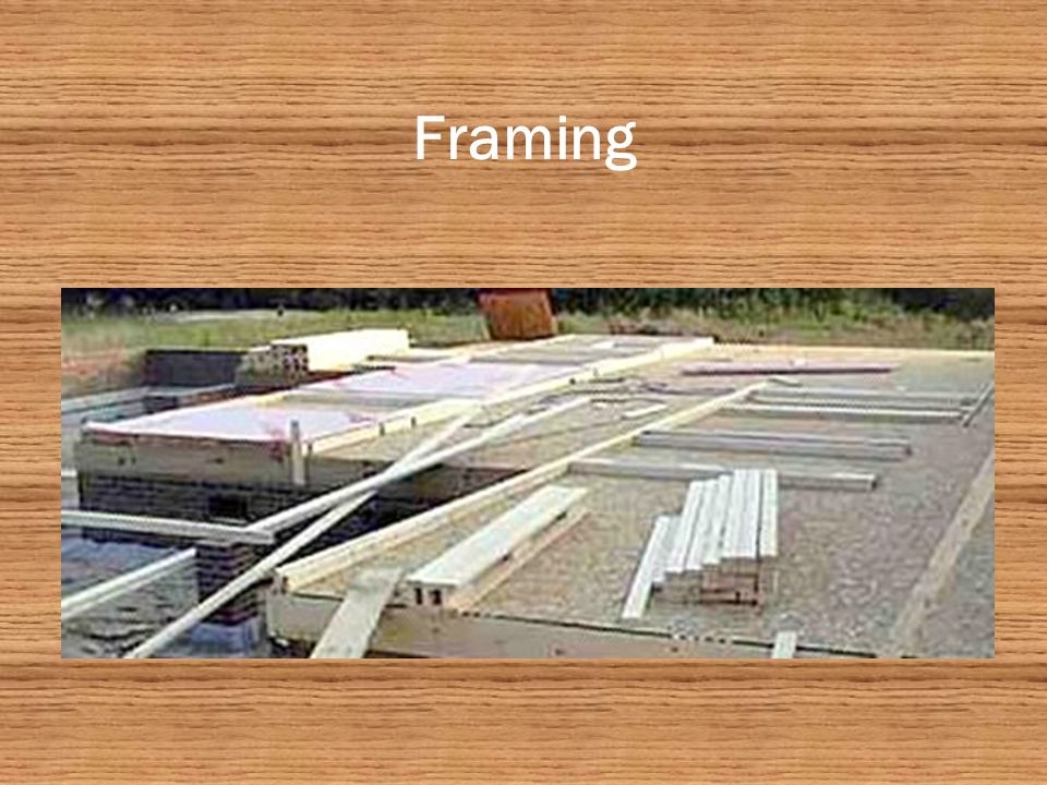 Framing 2 x4 Studs (16 apart) 2 x4 Top Plates 2 x4 Sole Plate ½ Sheathing (External) ½ Fire Wall (External) 2-2 x10 Header