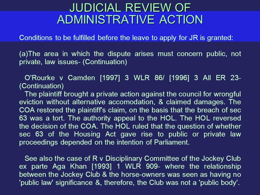 JUDICIAL REVIEW OF ADMINISTRATIVE ACTION Introduction Judicial