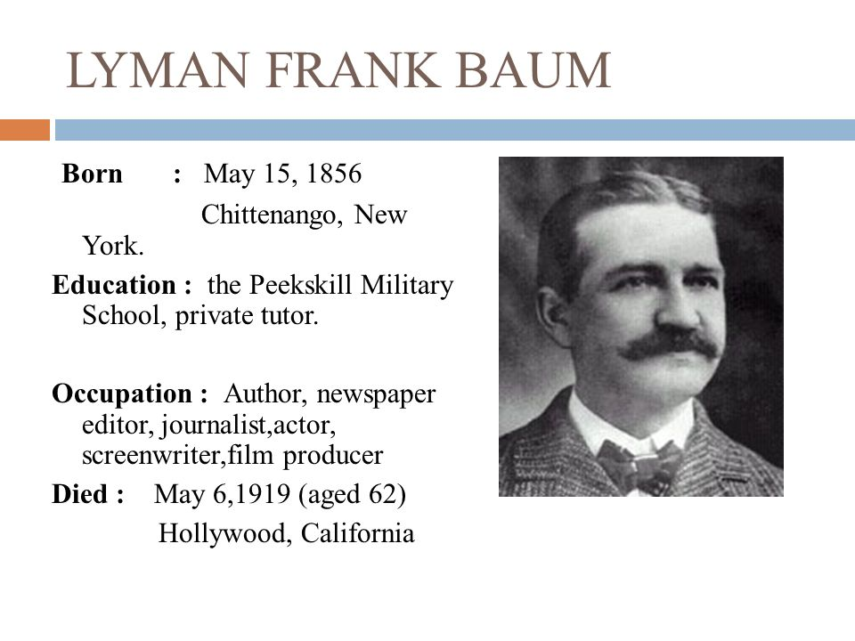 l frank baum biography